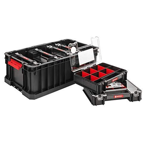 SET Qbrick System Two Box + 6 x Organizer Multi 6er Sortimentskasten Kleinteilemagazin Sortierbox groß mit Deckel Sortierkasten Sortierkoffer Werkzeugbox Sortimentsbox Organisationsbox