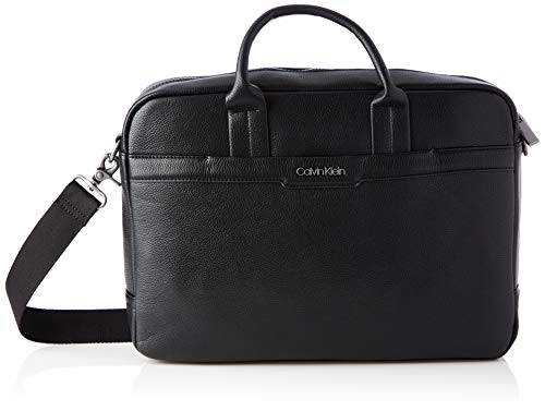 Calvin Klein Computer Bag, Bolsa de ordenador para Hombre, Negro, One Size