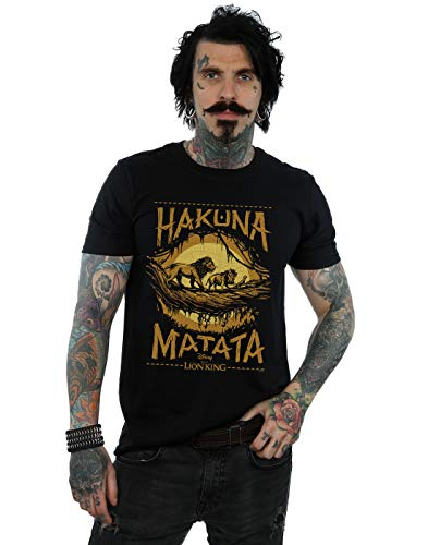 Disney Herren The Lion King Movie Hakuna Matata T-Shirt Schwarz Large