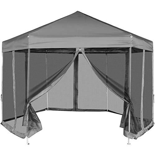 Estink - Cenador plegable impermeable, con 6 paredes laterales, 3,6 x 3,1 m, color gris