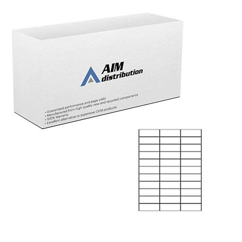 AIM Compatible Replacement for White Labels (1 X 2 5/8in) (3000 Labels) (5160) - Generic