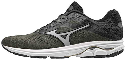 Mizuno Men's Wave Rider 23 Running Shoe, Beetle-Metallic Shadow, 10.5 D US