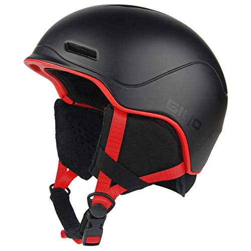 Motocicleta Bicicleta Scooter Cascos,Equipo de esquí Profesional para Hombres y Mujeres, Casco de Nieve cálido y Transpirable, Protector de Casco de Chapa para Adultos,Completa para el Invierno Casco