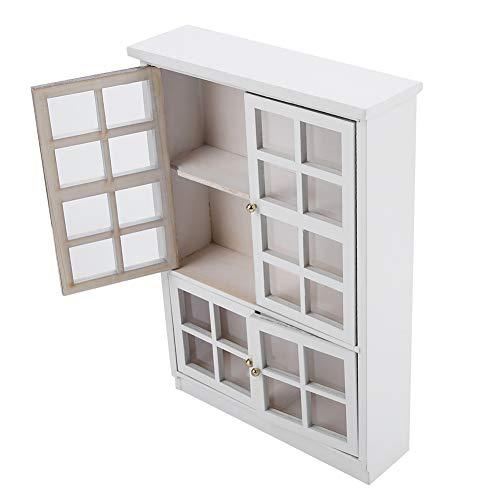 Librería de casa de muñecas, mini librería para muñecas Muebles de casa de muñecas Vitrina de casa de muñecas, armario portátil para amantes de las muñecas en casa