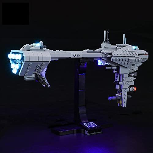 QXQY Kit de luces LED para Lego 77904 Star Wars Nebulon-B Fragata, juego de luces compatible con Lego Star Wars Nebulon-B Fragata 77904 (juego de luces LED solamente, sin kit de lego)