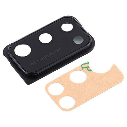 Ersatz-Glas-Rückseite, Objektiv-Gehäuse + Rahmen + doppelseitiges Klebeband (schwarz), Ring-Rückkamera, kompatibel mit Samsung Galaxy A41 A415 SM-A415F/DSN A415F/DSM