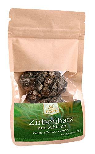 Kopp Verlag Zirbenharz aus Sibirien   Weihrauch   25 g   Räuchern