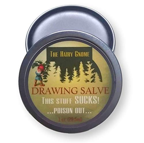 This Stuff Sucks!.Poison Out. The Hairy Gnome- All Natural Drawing Salve with Pine Resin and Plantain