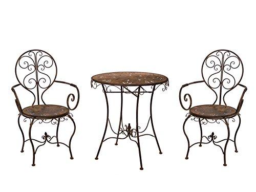 aubaho Gartenset Eisen Metall Garnitur Garten Möbel braun Antik-Stil