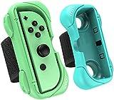 Yangers correa de muñeca para el controlador de Nintendo Switch Just Dance juego, 2 muñequeras ajustables soporte de agarre para juegos Joy-Con Just Dance 2021 2020 2019 2018 2017 Zumba Burn It Up