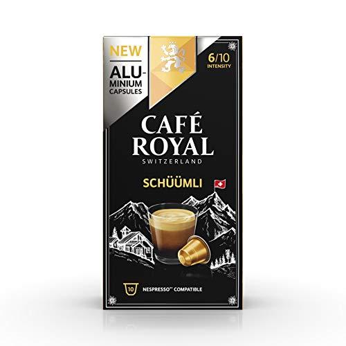 Café Royal Lungo Schüümli 100 Nespresso®* kompatible Kapseln (aus Aluminium, Intensität 6/10) 10er Pack (10 x 10 Kaffeekapseln)