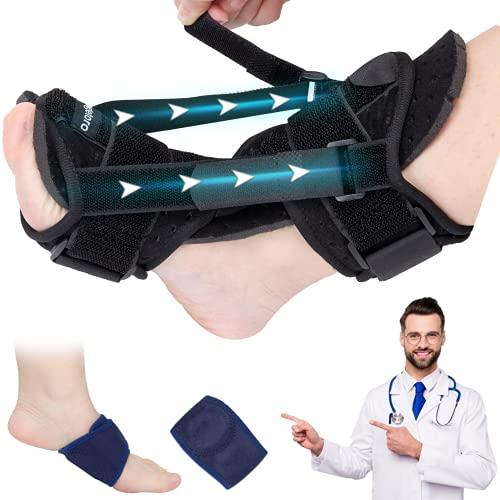 2021 New Upgraded Plantar Fasciitis Splint Night, Foot Brace Plantar Fasciitis Support, Plantar Fasciitis Relief Foot Drop Brace, Achilles tendoniti Brace Black