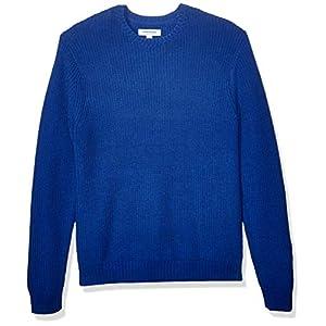 Amazon Brand – Goodthreads Men's Soft Cotton Rib Stitch Crewneck Sweater