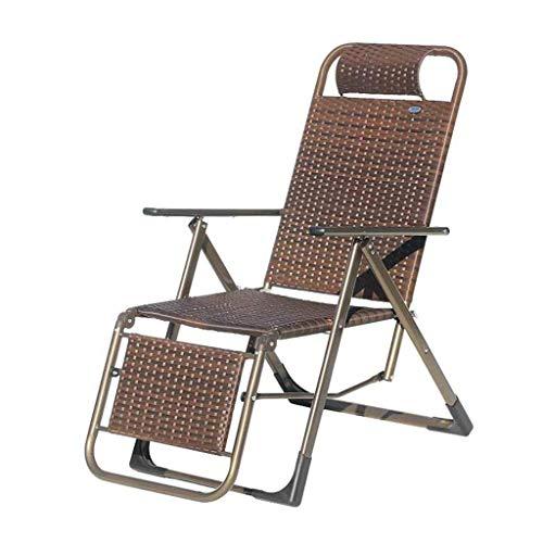 NZB Sedia reclinabile Pieghevole Poly Rattan Pieghevoli Sedie Sdraio Sedie a Sdraio Garden Beach Pausa Pranzo Zero Relax Giardino