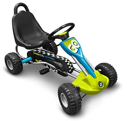 STAMP- GOKART a pedali SKIDS Control 89 x 52 cm, J679001, blu, verde, grigio, nero