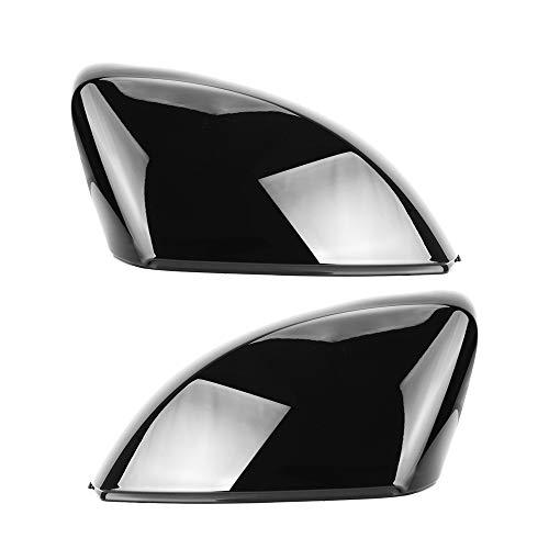 Copertina 2pcs sostituzione laterale Specchio Cap copre for Audi A3 S3 8V RS3 Glossy Black Pearl 2013-2019