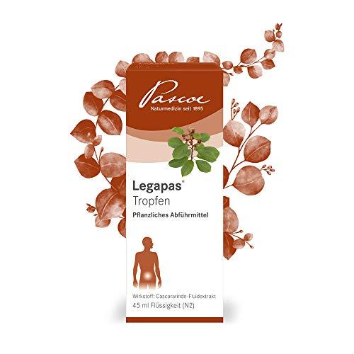 Pascoe® Legapas Tropfen: natürliches Abführmittel bei Verstopfung - fördert die Darmentleerung - mit Cascararinde - laktosefrei, glutenfrei, zuckerfrei - auch als Tabletten erhältlich - 45 ml