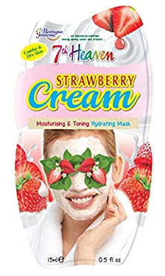 7th Heaven Strawberry Cream Moisturising, Toning and Hydrating Mask for Combo and Dry Skin