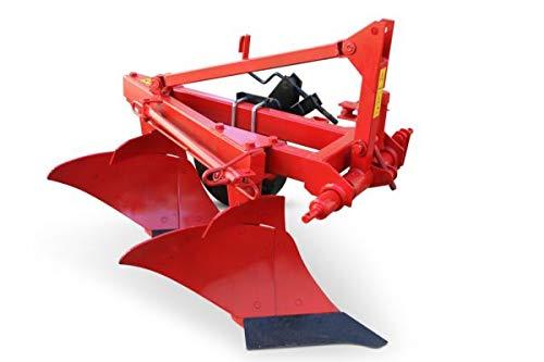 Wallentin & Partner | Zweischarpflug | 2 Schar Pflug 60 cm | Pflug Kleintraktor ab 35 PS | Zweischariger Pflug 190 kg | Zweischariger Pflug Traktor Dreipunktanbau Kat. 2