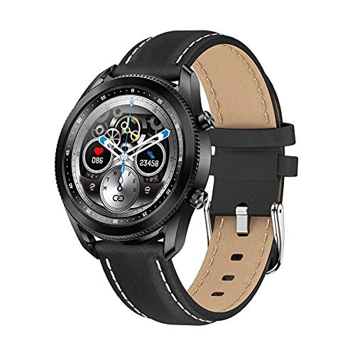 QFSLR Smart Watch Pantalla táctil Completa Rastreador de Ejercicios Múltiples Modos de Ejercicio Ritmo cardíaco Presión Arterial Monitoreo del sueño Rastreador de Actividad IP68 Impermeable,Negro