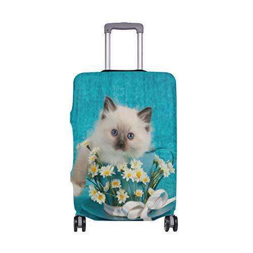 My Daily Ragdoll Gatito Gato Margaritas Cubierta de equipaje para maleta de viaje de 45 a 32 pulgadas