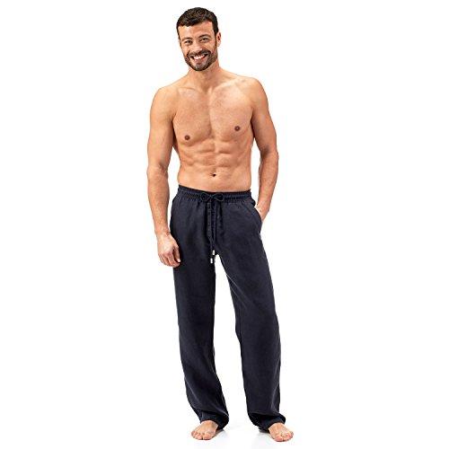 Vilebrequin Pantaloni - Pantaloni in lino Uomo - L - Blu Marino