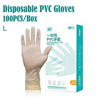 Disposable Rubber Gloves 100PCS/Box Powder-free PVC Transparent Nitrile Gloves Industrial Comfortable Protective Convenient Tatoo Latex Gloves PVC Gloves Powder Free Gloves Exam Gloves Film Gloves