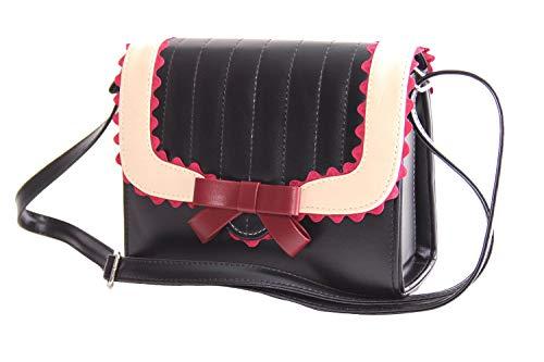SugarShock Soranda Damen Handtasche im Budapester Design, Farbe:schwarz cremé burgund