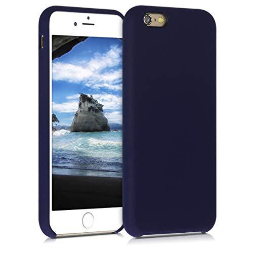 kwmobile Cover Compatibile con Apple iPhone 6 / 6S - Custodia in Silicone TPU - Back Case Protezione Cellulare Blu Oceano
