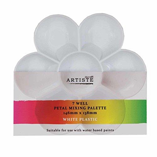 Artiste Plastic Medium Petal Mixing Palette, White