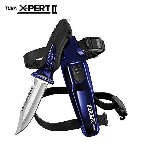 TUSA FK-910 X-Pert II Dive Knife, Drop Point, Cobalt Blue