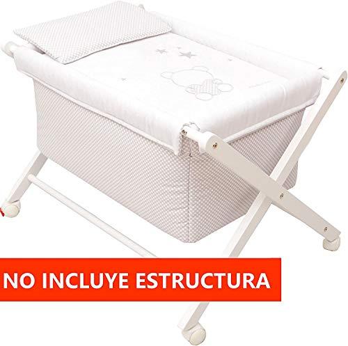 Vestidura Minicuna Tijeras mibebestore Blanco/Gris