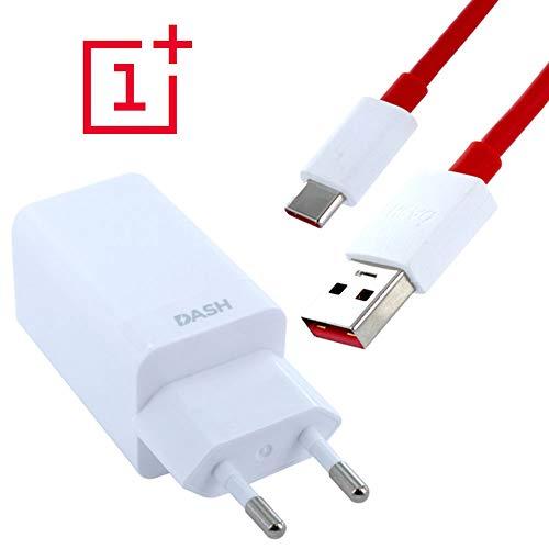 Vinciann Adaptateur USB secteur Dash DC0504 à recharge rapide, avec câble USB-C d'origine pour smartphone OnePlus 5T, 6