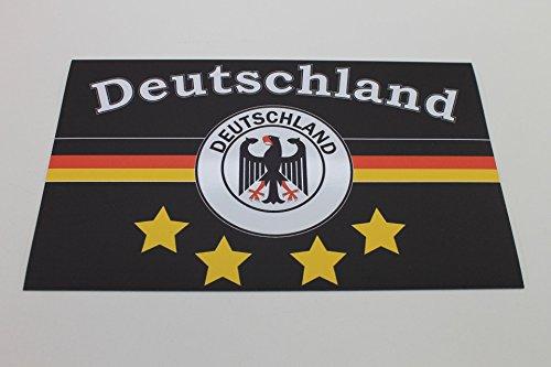 2 x Deutschland 4-Sterne Magnetschild Fahne Automagnet Magnet Folie - Weltmeister - EM 2016