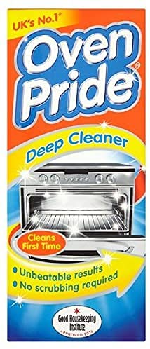 Oven Pride Complete Oven Cleaning Kit 500ml Includes Bag for Cleaning Oven , Grill and Barbeque Removes Baked On Food and Burnt-in Grease in No Time and Less Effort