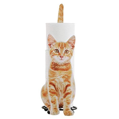 Yousiju Toilette Tovagliolo Portasciuga Cats Shape Bagno Bagno Carta Igienica Deposito Rack Regalo per Gatti Amanti Toilette Porta Rotolo WC (Color : A)