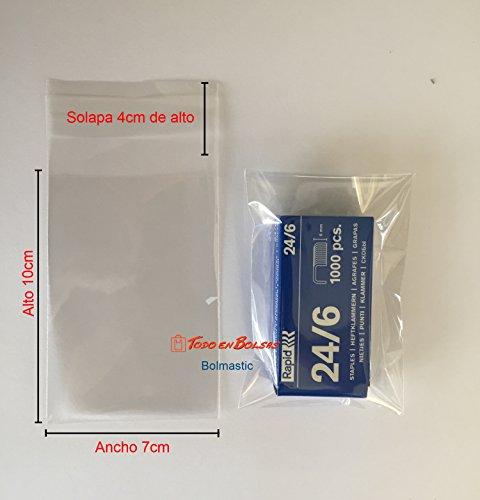Bolmastic Bolsa de Polipropileno con Solapa Adhesiva de 7 x 10 cm (1000 Unidades)
