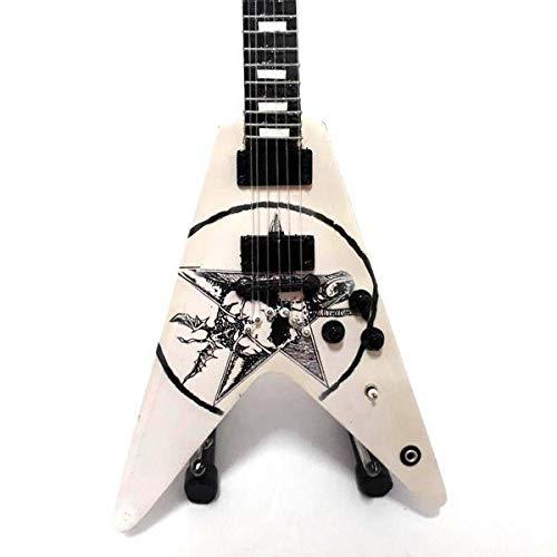 Mini guitarra de colección réplica de artistas de los años noventa.