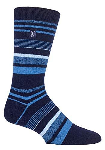 2 Paar Heat Holders Ultra Lite Winter Warm Thermo-Socken für engere Passform Schuhe Tog 1.0 Schuhgröße 39-45 EUR Gr. onesize, 2 Pairs Goldcrest Navy Stripe