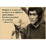danyangshop Druck Auf Leinwand Retro Poster Bruce Lee
