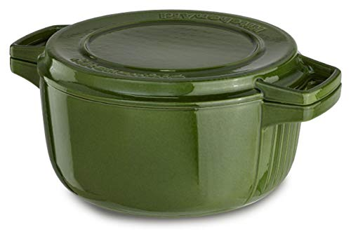 KitchenAid KCPI60CRIG Professional Cast Iron 6-Quart Casserole Cookware - Ivy Green