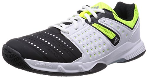 adidas Herren Court Stabil 12 Handballschuhe, Schwarz (Cblack/Silvmt/), 45 1/3 EU