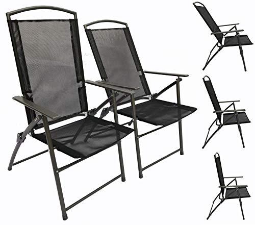 VCM Tuinstoelen, stoel, metaal, textileen, inklapbaar en verstelbaar