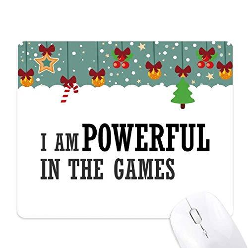 Ik ben krachtig in de spellen muismat spel Office Mat Kerstmis Rubber Pad