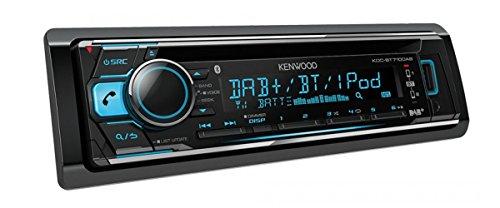 Kenwood Electronics KDC-BT710DAB Bluetooth Schwarz - Auto Media-Receiver (Schwarz, 1 DIN, CD,CD-R,CD-RW, 24-bit, AAC,FLAC,MP3,WAV,WMA, LCD)