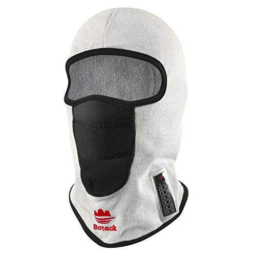 Botack Balaclava Ski Mask, Polyester Fur Full Head Mask, with Thermometer Windproof Snowboarding Grey