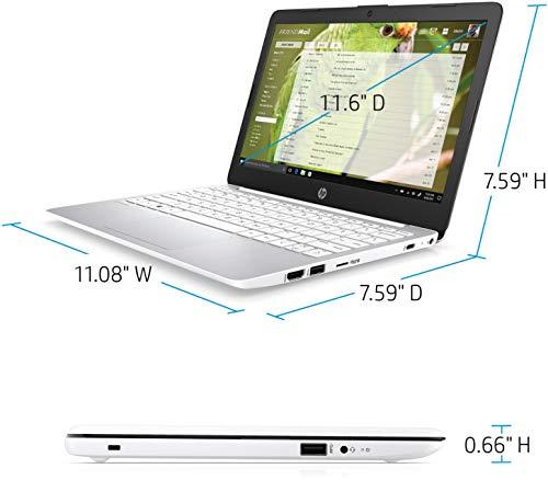 Product Image 1: 2020 HP Stream 11.6″ HD (1366 x 768) Laptop PC, Intel Celeron N4000 Dual-Core Processor, 4GB DDR4 Memory, 64GB eMMC, HDMI, WiFi, Bluetooth, Windows 10 S, 1 Year Microsoft 365, Diamond White