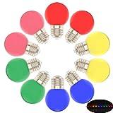 10X Bombillas LED Esferica G45 E27 Multicolor 1W Rojo amarillo azul verde rosa,para Hogar, Decoración, Bar, Fiesta, KTV