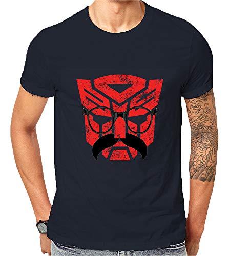 Scralandore Design Transformers Autobots in Disfraz, camiseta de calidad inspirada en Bumblebee Azul azul marino 46