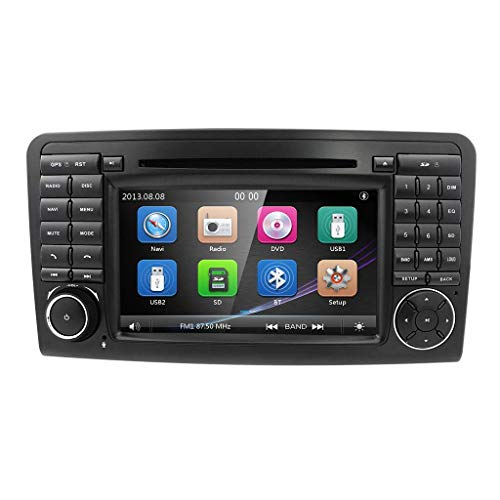 Laicve Android-Autoradio Audio Stereo Doppel-DIN-GPS-Navigator ForMercedes-Benz ML-Klasse W164 (2005-2012) GL-Klasse X164 DVD Player DSP Unterstützt Bluetooth USB Carplay RDS